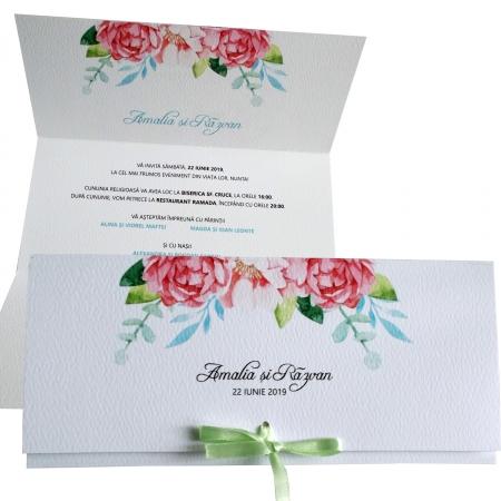Invitatie nunta flori roz [1]