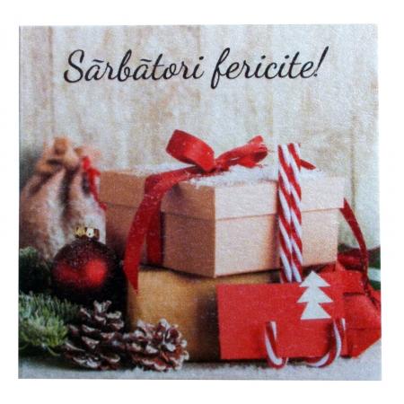 Minifelicitari Craciun cutii cadouri si glob rosu [4]