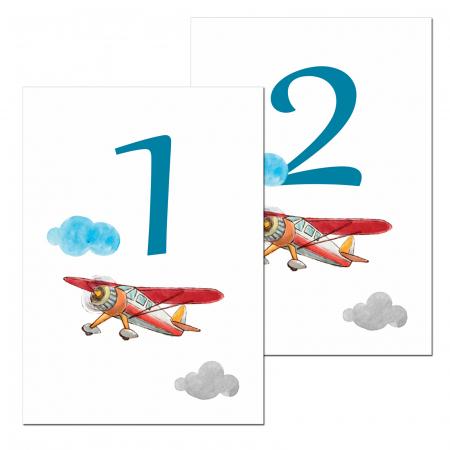 Set 10 numere mese micul aviator [1]