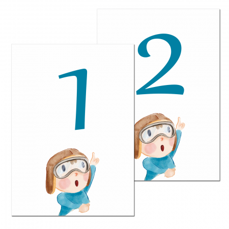 Set 10 numere mese micul aviator [0]