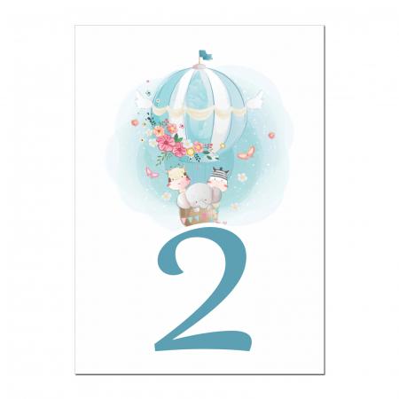 Set 10 numere mese balon aer cald [2]