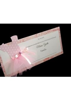 """PLACE CARD BOTEZ """"MICA BALERINA""""1"""