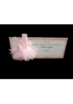 """PLACE CARD BOTEZ """"MICA BALERINA""""2"""
