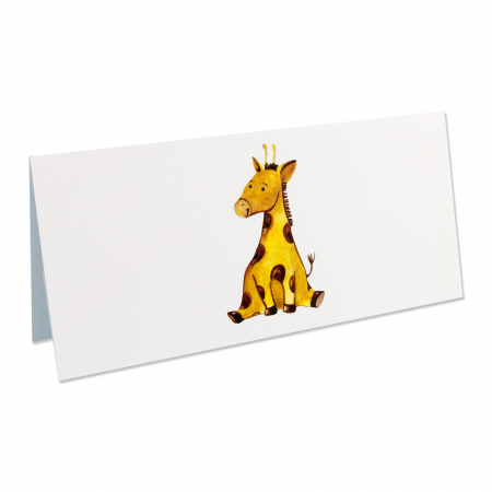 Place card plic de bani botez girafa [2]