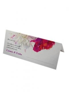 PLACE CARD NUNTA FLORAL0