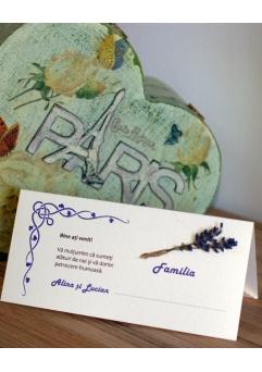PLACE CARD NUNTA SET LAVANDA2
