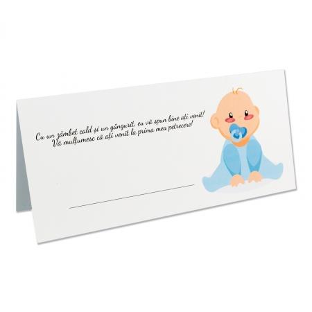 PLACE CARD - PLIC DE BANI BEBE BAIETEL0