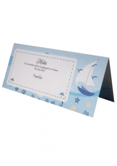PLACE CARD BOTEZ NAUTIC0