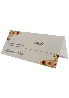 PLACE CARD NUNTA FLORAL TRANDAFIRI0