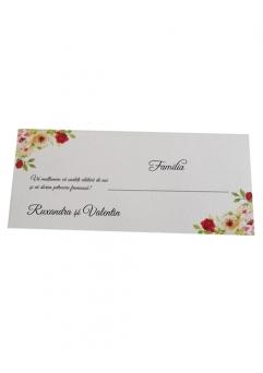 PLACE CARD NUNTA FLORAL TRANDAFIRI2