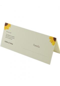 Place card nunta postcard floarea-soarelui [0]