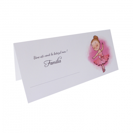 PLACE CARD BALERINA ROZ1