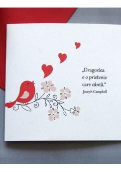 Felicitare Valentine / Dragobete BIRD