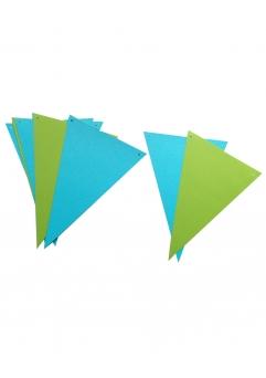 Ghirlanda stegulete verde crud si bleu