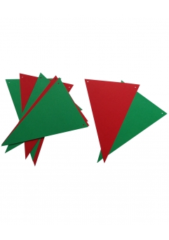 GHIRLANDA 10 STEGULETE COMBINATE VERDE SI ROSU CHRISTMAS