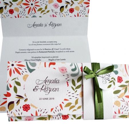 Invitatie nunta pattern floral