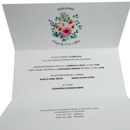 INVITATIE NUNTA - FLORI MULTICOLORE