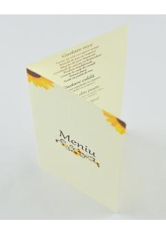 MENIU POSTCARD FLOAREA-SOARELUI