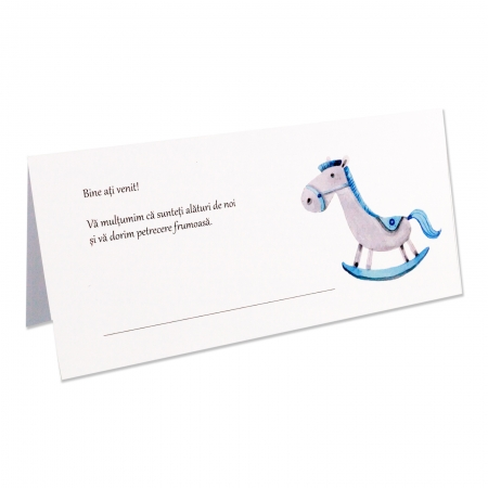 Place card - plic de bani botez calut bleu