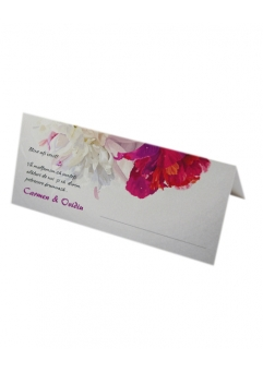 Place card nunta floral