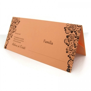 Place card somon cu motive florale