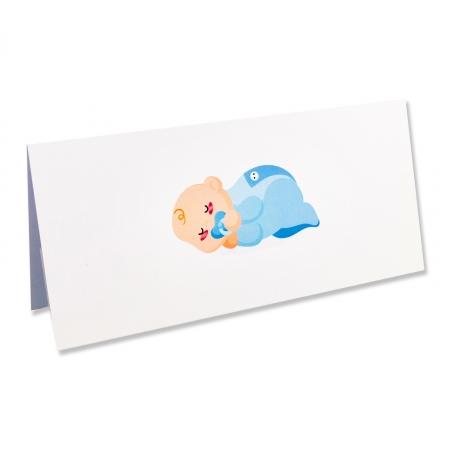 PLACE CARD - PLIC DE BANI BEBE BAIETEL