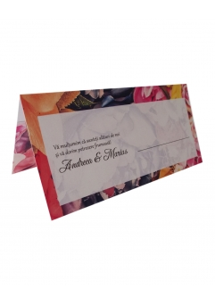 PLACE CARD NUNTA FLORAL DARK BACKGROUND
