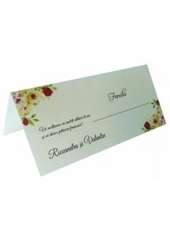 PLACE CARD NUNTA FLORAL TRANDAFIRI