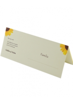 PLACE CARD NUNTA POSTCARD FLOAREA-SOARELUI