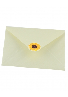 Plic alb sidef floarea-soarelui