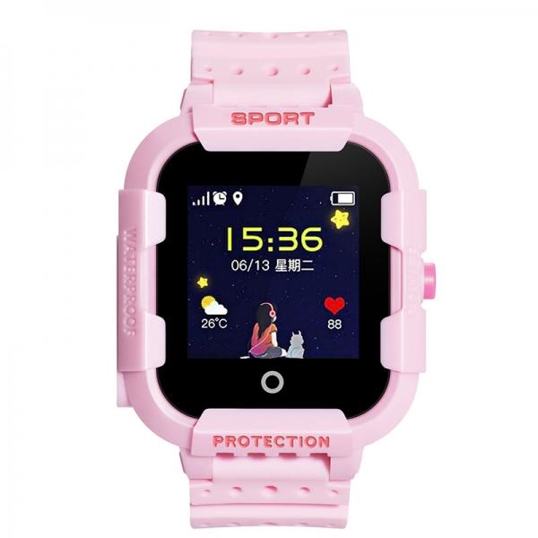 Ceas Inteligent cu GPS pentru copii WONLEX KT03 Roz, rezistent la apa, localizare WiFI si monitorizare spion0