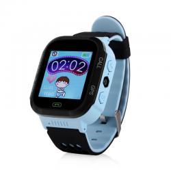 Ceas inteligent pentru copii GW500S Albastru cu touchscreen, telefon si localizare GPS