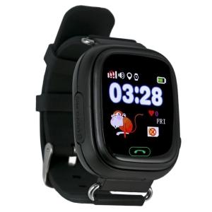 Ceas inteligent pentru copii GW100 Negru cu telefon, localizare GPS&WiFi si functie monitorizare spion