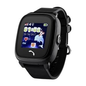 Ceas inteligent pentru copii GW400S Negru rezistent la apa, cu telefon, GPS&WiFi, monitorizare spion,