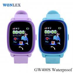 Ceas inteligent pentru copii GW400S Mov rezistent la apa, cu telefon, GPS, WiFi, touchscreen ,monitorizare spion