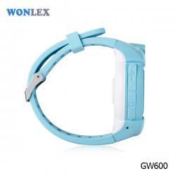 Ceas inteligent pentru copii WONLEX GW600 Albastru cu GPS, telefon, localizare WiFi, ecran touchscreen color, monitorizare spion1