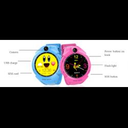 Ceas inteligent pentru copii WONLEX GW600 Albastru cu GPS, telefon, localizare WiFi, ecran touchscreen color, monitorizare spion6