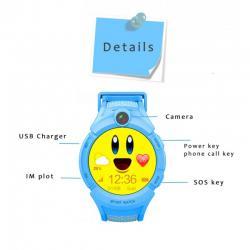 Ceas inteligent pentru copii WONLEX GW600 Albastru cu GPS, telefon, localizare WiFi, ecran touchscreen color, monitorizare spion4