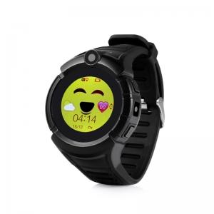ceas-inteligent-pentru-copii-gw600-negru-cu-telefon-localizare-gps-wifi-ecran-touchscreen-color-monitorizare-spion