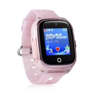 Ceas inteligent pentru copii KT01 Roz rezistent la apa, cu telefon, camera foto, GPS, touchscreen ,monitorizare spion