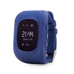 Ceas inteligent pentru copii Q50 Bleumarin cu telefon, localizare GPS si monitorizare spion