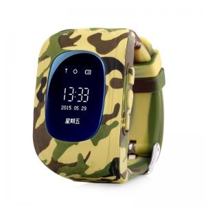 Ceas inteligent pentru copii Q50 Yellow Camo cu telefon, localizare GPS si monitorizare spion