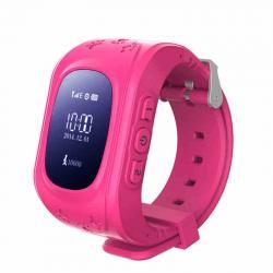 Ceas inteligent pentru copii Q50 Roz cu telefon, localizare GPS si monitorizare spion