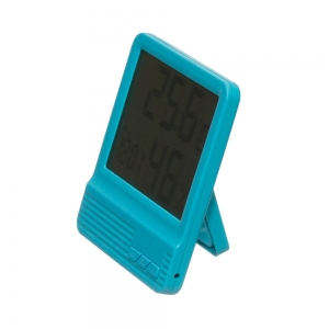 Termometru camera copii  cu ceas, alarma, si higrometru BLEU2