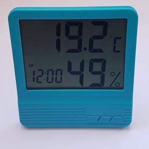 Termometru camera copii  cu ceas, alarma, si higrometru BLEU4