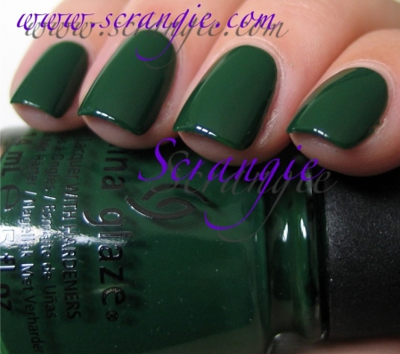 China Glaze Holly-Day + Ugly Sweater Party1
