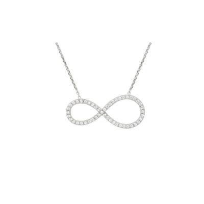 Colier argint rodiat cu simbolul infinitului1
