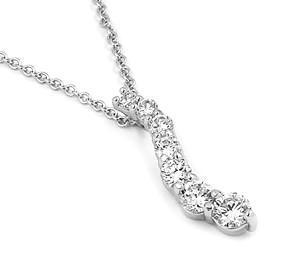 Colier elegant argint rodiat cu zirconii0
