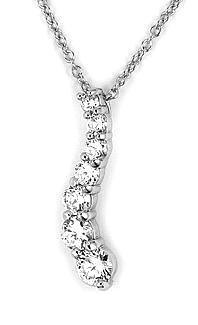 Colier elegant argint rodiat cu zirconii1