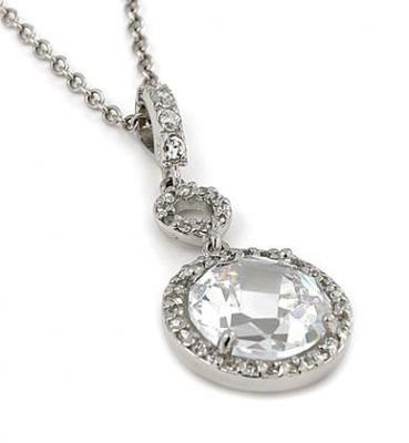 Colier elegant din argint rodiat cu zirconii0